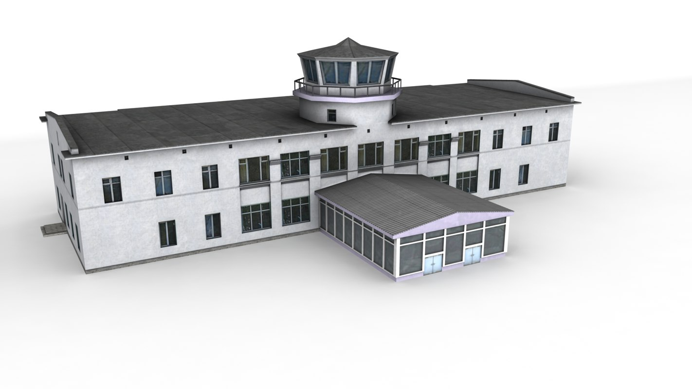 3d airport kostroma ready games model