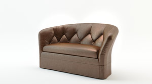 love seat 3d model