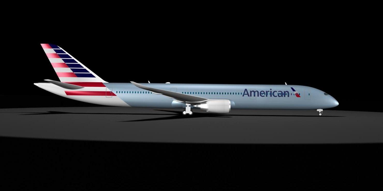 3d 787-9 new logo 787 model