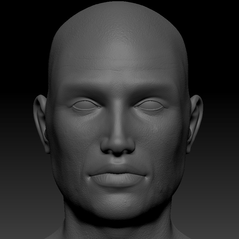 anatomically male head obj
