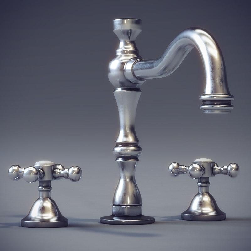 3d classic faucet cristal et