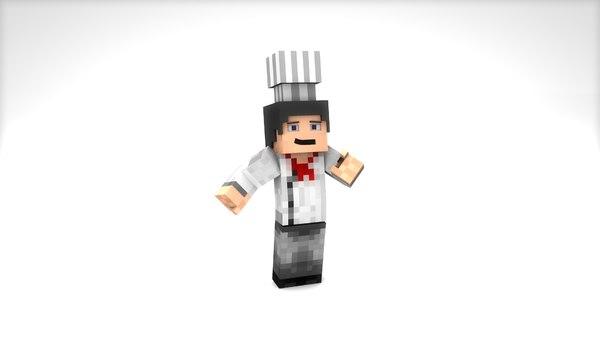 cinema4d minecraft chef