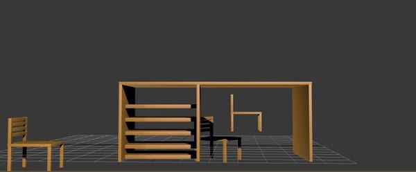 table chears 3d model