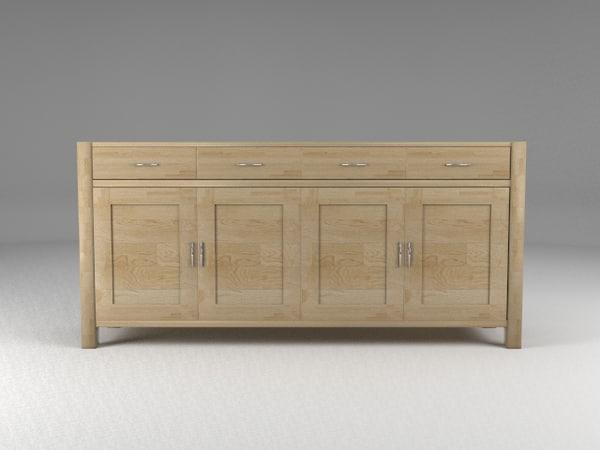 3d model of sideboard oak