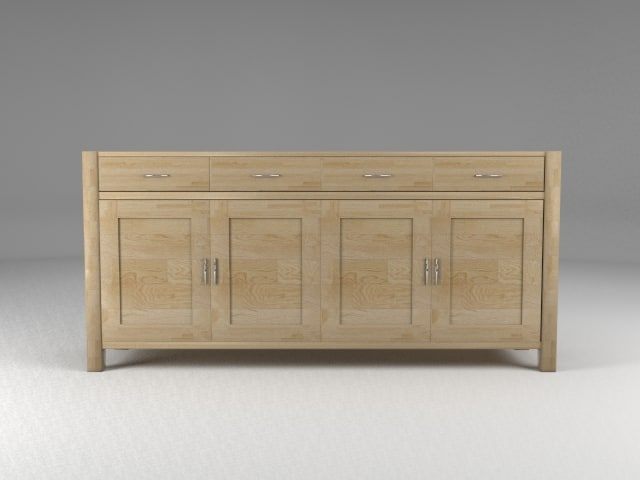 3d model of sideboard oak