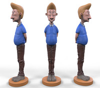 arthur stylized cartoon 3ds