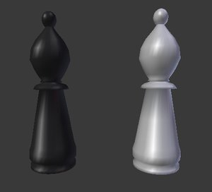3d model chess bishop
