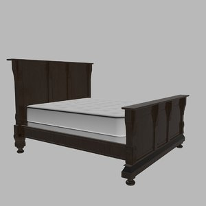 california king size bed dwg
