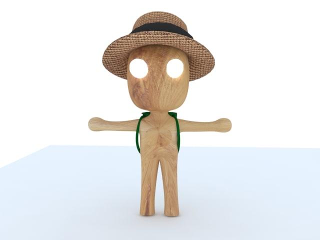 character wood 3d model