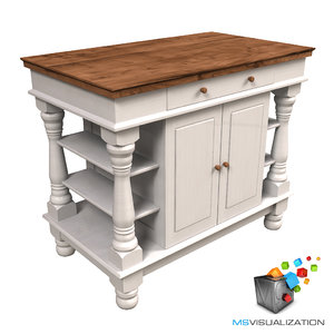 colonial kitchen table 3d max