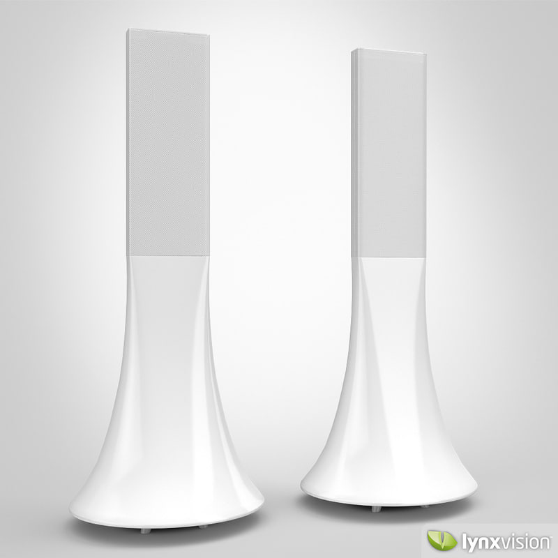 parrot hi-fi wireless speakers 3d model
