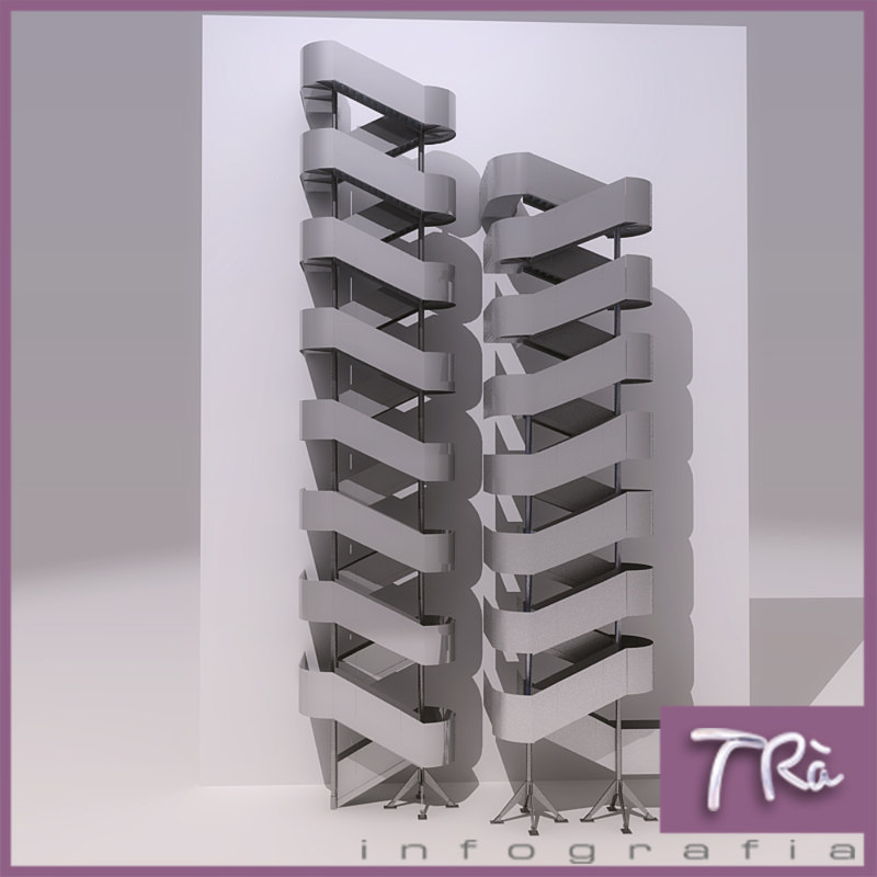 3d model emergency stairs