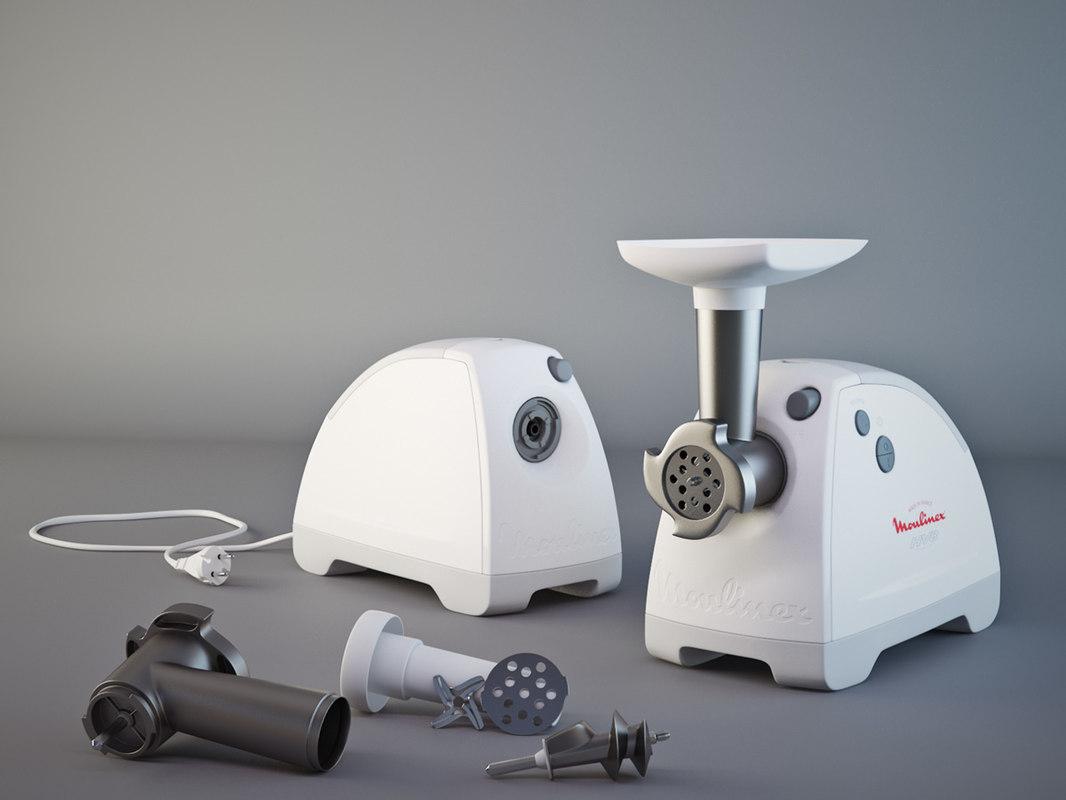 3d model mincing machine moulinex 6061