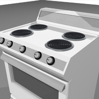 Stove / Oven With Opening Door and Drawer: C4D Format