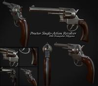 old revolver 3d obj