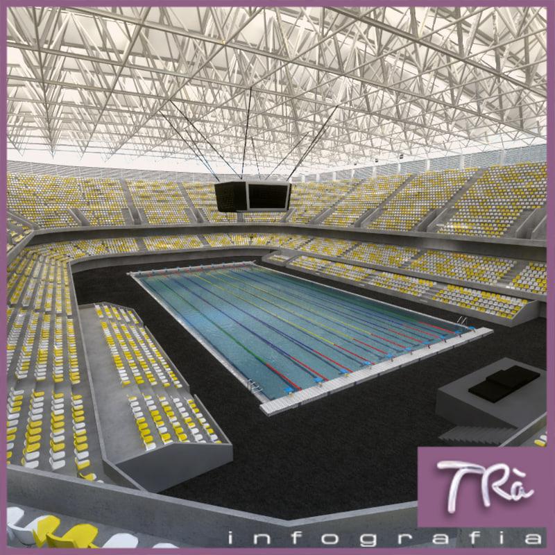 3d swimming pool indoor