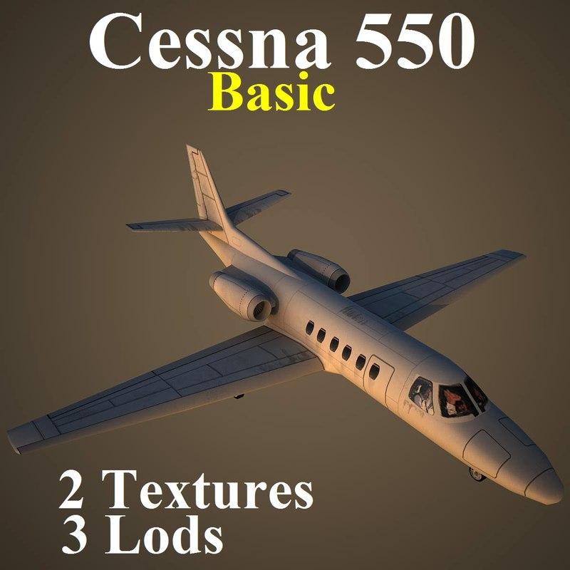 3d model cessna 550 basic