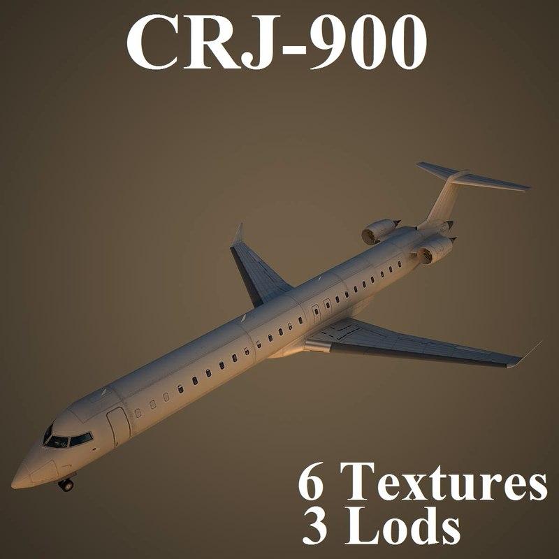 regional jet 3d max