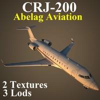 regional jet 2 aab 3d model