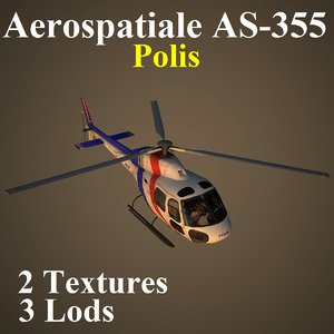 3d model aerospatiale uup helicopter