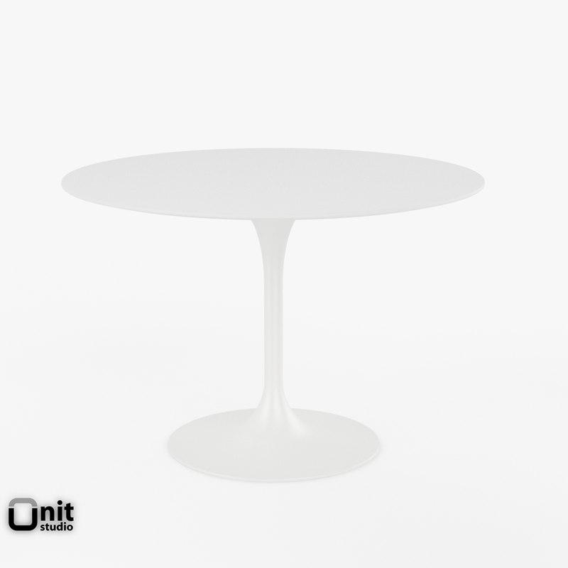 free tulip table 042 eero saarinen 3d model