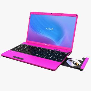 3d model laptop sony vaio e