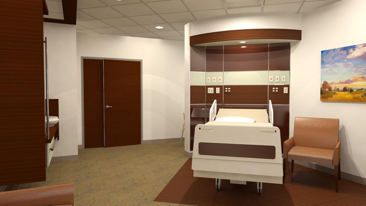 3d 300 patient room sf