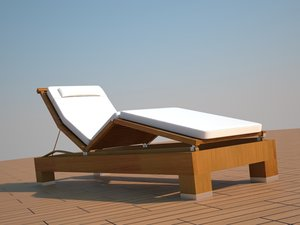 3d model pool chair