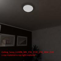 3d ceiling lamp luven mx model