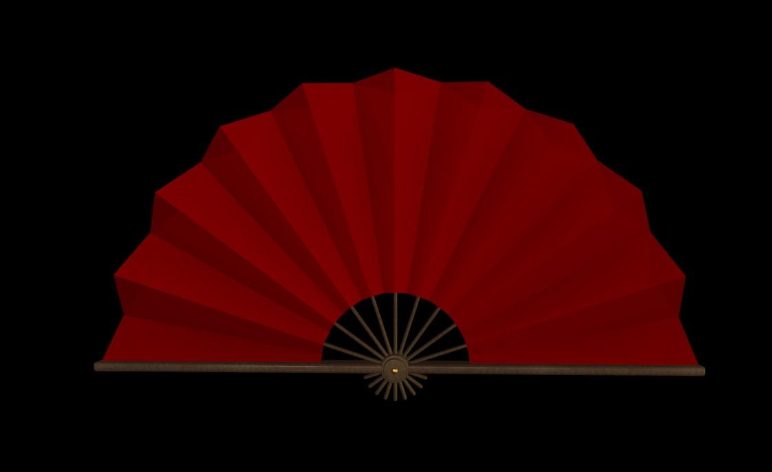 chinese fan 3d model