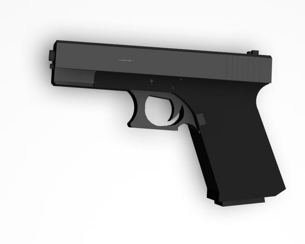 3d model of glock 19