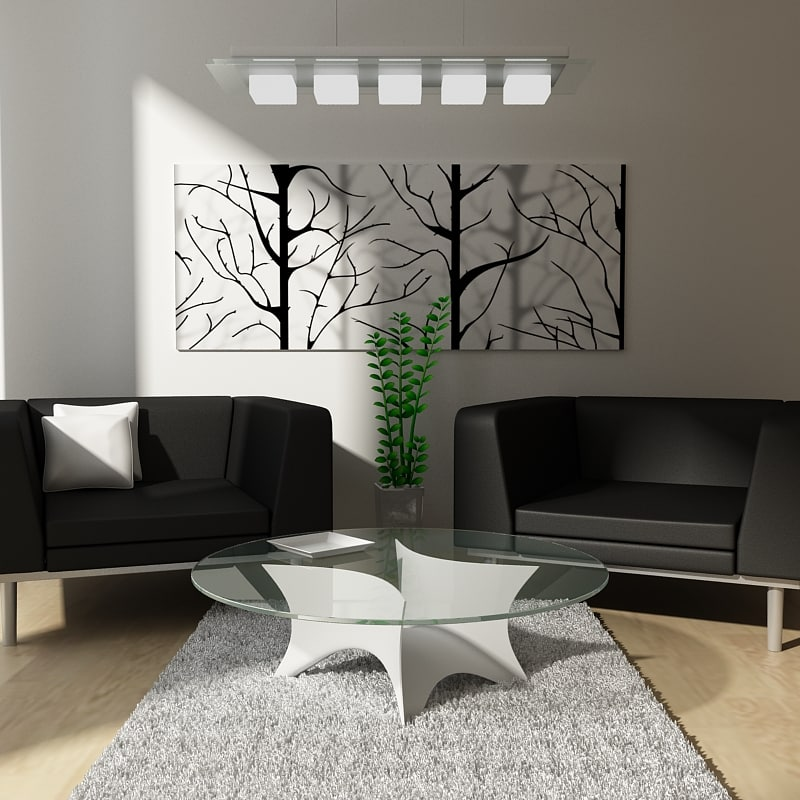 3d model small living room