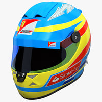 3d racing helmet ferrari