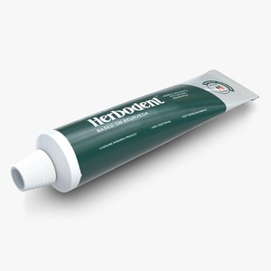 tube toothpaste 3 3d model