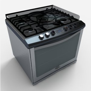3d model of we9550s stove