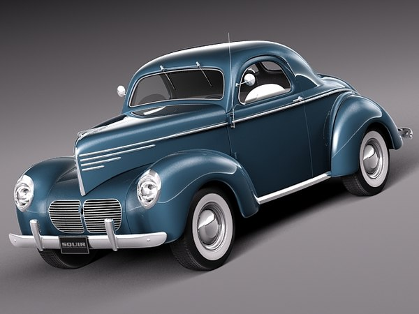willys coupe 1940 antique 3d 3ds