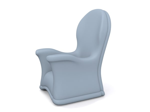free leather chair 3d model