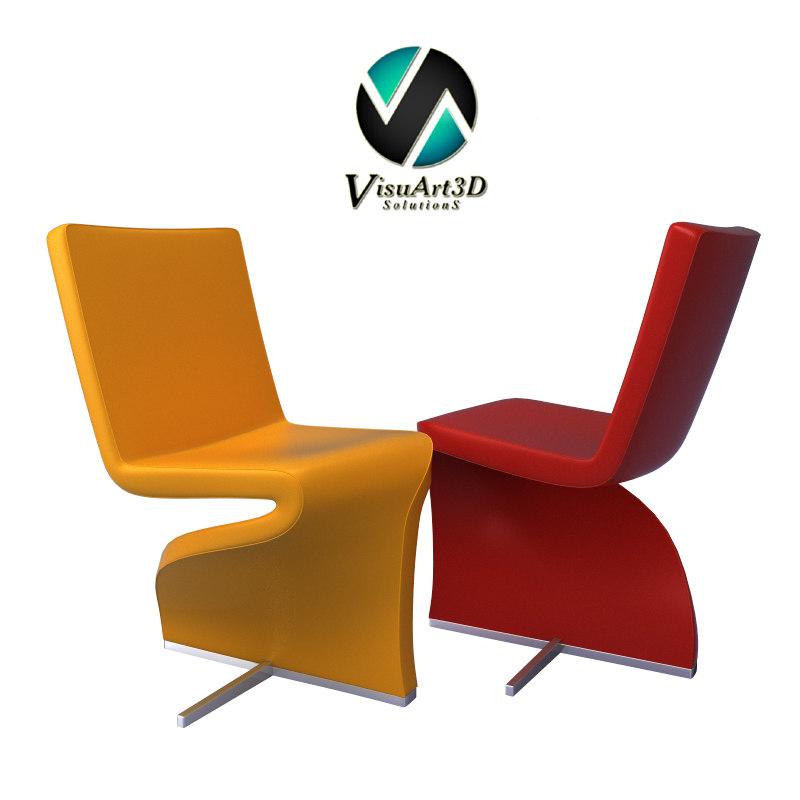 twist chair furniture 3d max