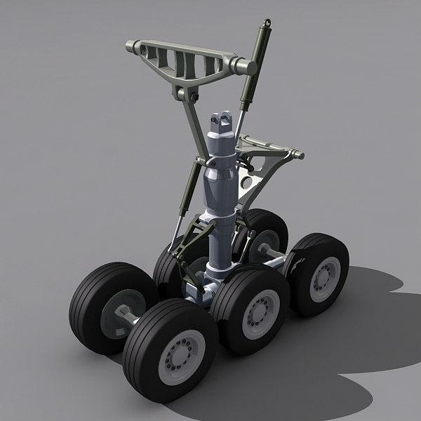3d body landing gear