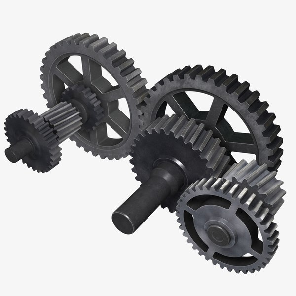 3d cogwheel gears model