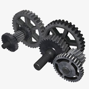 3d cogwheel gears model