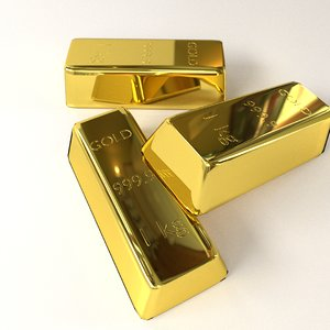gold bar 3d 3ds