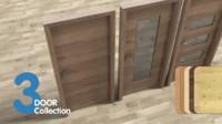 3d door set 3 pieces model