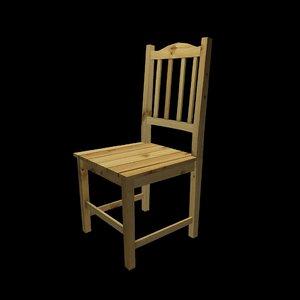 3d model stool wood