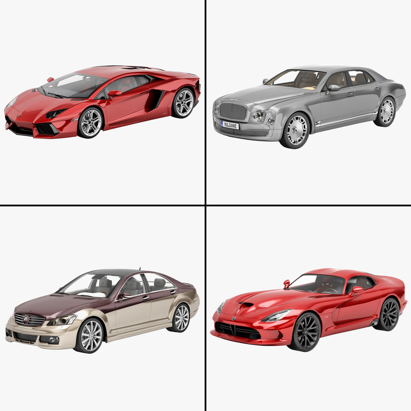 luxury car 3d model
