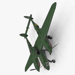3d model lockheed p-38