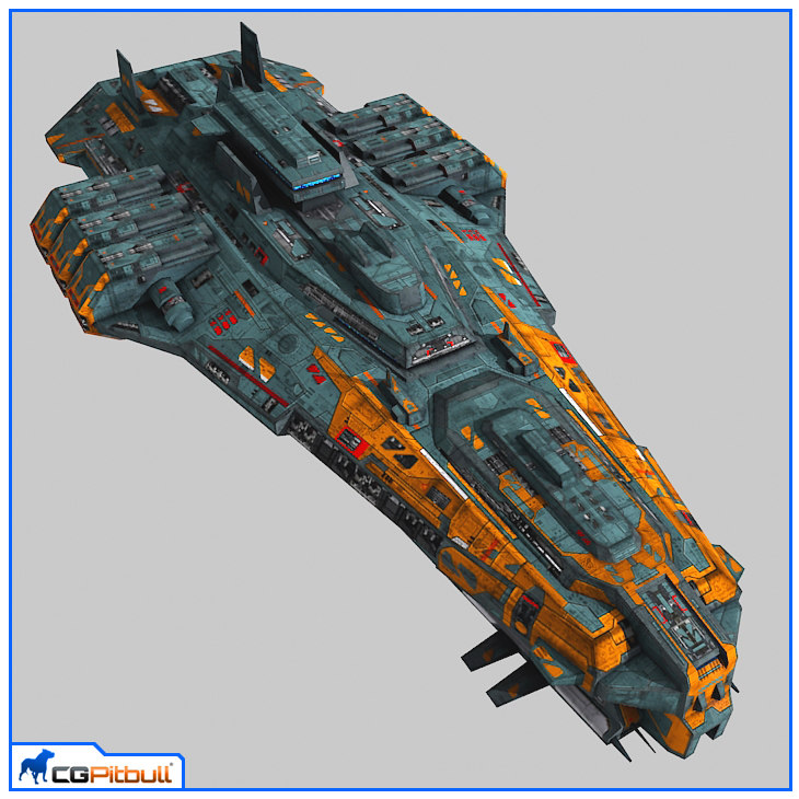 3ds max starship cruiser v2