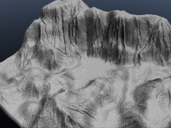 3d model valley