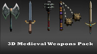 Ancient Medieval Swords Collection 3D
