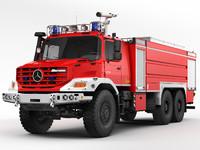 Mercedes Zetros Fire Truck